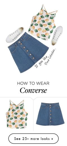"""""""Untitled #117"""" by gabby23-2 on Polyvore featuring WithChic, Monki and Converse"""