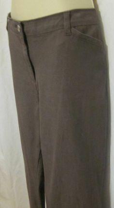 f19d983a Chicos Womens Pants Jeans 2.5 Regular Brown Tan Med 12 14 Sewn Pockets  Stretch #Chicos #StraightLeg. Ocean Beach Treasures