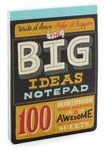 I may know a few people with some of these: The Big Ideas Notepad | Mod Retro Vintage Desk Accessories | ModCloth.com