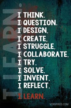 """I would love to put this quote in my classroom. Powerful """"I"""" statements that would help empower the learners in my classroom."""