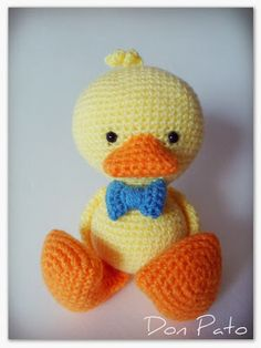 Cuddly duckling. Free Spanish pattern