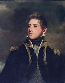 Captain Peter Parker (John Hoppner, ca. 1808-1810) - Sir Peter Parker, 2nd Baronet (1785 – 1814) was an English naval officer, the son of Vice-Admiral Christopher Parker. In 1810, he was given command of the frigate Menelaus, which he commissioned. In 1814, Menelaus was sent to Bermuda. Leading his marines, he was hit in the thigh (as his grandfather had been at the Battle of Sullivan's Island), but unlike his grandfather, Parker died on the field of a severed femoral artery.