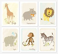 From SeaUrchin Studios (etsy) love the monkey in particular :)