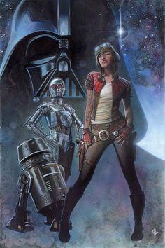 "comicbookwomen: "" Darth Vader #3 by Adi Granov """