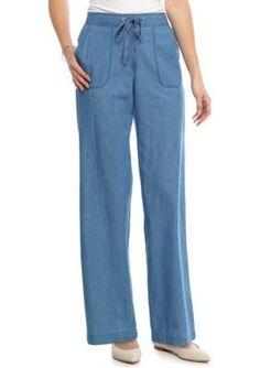 Kim Rogers  Petite Size Chambray Pant