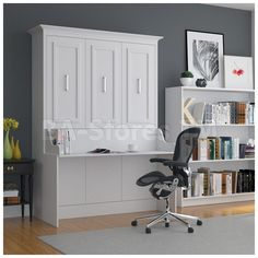 allegra full wall bed with desk by manhattan wall beds - Murphy Bed With Desk
