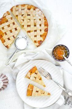 Einfache Mürbeteigtarte mit Libelingsmarmelade Sweets, Bread, Food, Pie, Powdered Sugar, Marmalade, Bakken, Raspberries, Brot