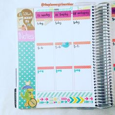 Loving this color scheme for next week!  Featuring arrows bright colors and cute stickers! #paperseptemberplannerchallenge