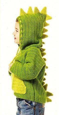 Crochet Sweater Baby Boy Yarns Ideas For 2019 Crochet For Boys, Love Crochet, Crochet Gifts, Diy Crochet, Lidia Crochet Tricot, Knitting Patterns, Crochet Patterns, Knitting Ideas, Crochet Dinosaur
