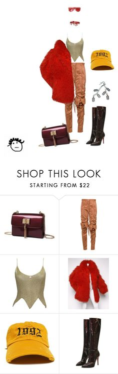 """1992"" by crushedrosepetals ❤ liked on Polyvore featuring Y/Project, Karl Lagerfeld and Christian Louboutin"