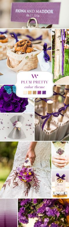 Plum, purple, or violet. Call it what you want, but we call it GORGEOUS! A beautiful color palette for a purple wedding.