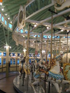 The Crescent Park Carousel was built in 1895  Went here with hubby 24 years ago Rhode Island