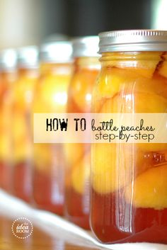 Step-by-step instructions with photos for Bottling Peaches! You can do it! | theidearoom.net #bottling #canning #peaches