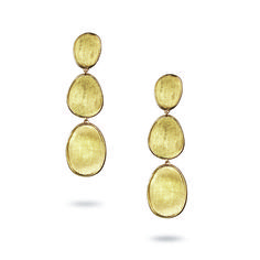 Fink's Jewelers - Marco Bicego Lunaria 18K Yellow Gold Hand-Engraved Three Tier Dangle Earrings, $1,310.00 (http://finksjewelers.com/marco-bicego-lunaria-18k-yellow-gold-hand-engraved-three-tier-dangle-earrings/)