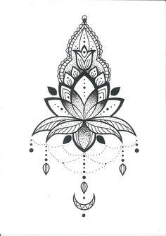 tattoo - mandala - art - design - line - henna - hand - back - sketch - doodle - girl - tat - tats - ink - inked - buddha - spirit - rose - symetric - etnic - inspired - design - sketch Mini Tattoos, Flower Tattoos, Body Art Tattoos, New Tattoos, Small Tattoos, Tattoo Femeninos, Tatoo Henna, Lotus Tattoo Design, Henna Tattoo Designs