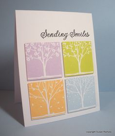 Another great card by Susan Raihala with Hero Arts stamps.