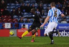 Huddersfield T. 1 Wigan Ath 4 in Feb 2013 at JS Stadium. Arouna Kone scores to make it 2-0 on 40 minutes in the FA Cup 5th Round.