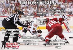 These face off tips will help you win more draws. For more tips visit the article, there are 3 videos, two of them with NHL players giving face off advice.