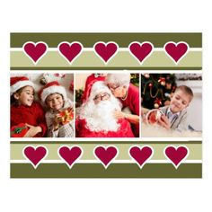 YOUR PHOTOS Holiday Motif custom text postcard - Xmas ChristmasEve Christmas Eve Christmas merry xmas family kids gifts holidays Santa