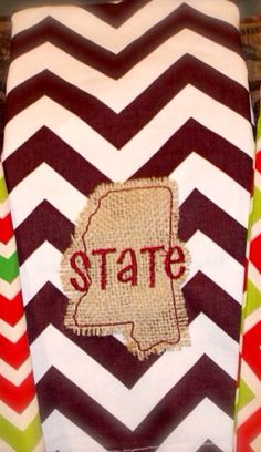 Mississippi State University Tea Towel on Etsy, $20.00
