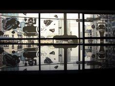 Illustration for Wieden+Kennedy Shanghai window panels based on the theme - Underground. Window Glass Design, Window Graphics, Window Stickers, Window Panels, Shanghai, Windows, Simple, Illustration, Ideas