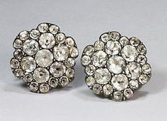 Antique French 18th Century Paste Earrings
