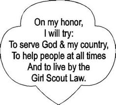 Pattern for Girl Scout Promise
