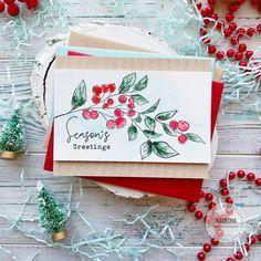 Cas Christmas Cards, Watercolor Christmas Cards, Merry Christmas Wishes, Beautiful Christmas Cards, Beautiful Handmade Cards, Christmas Gift Tags, Handmade Christmas, Christmas Ideas, Frosty The Snowmen