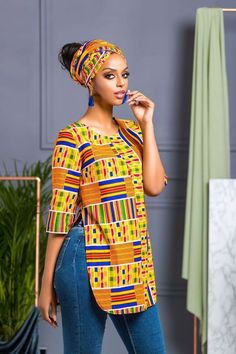 african print shalla top big girl fashion afrikanisch mode jurken - The world's most private search engine African Fashion Ankara, African Fashion Designers, African Print Dresses, African Print Fashion, Africa Fashion, Fashion Prints, African Style, African Prints, African Clothes