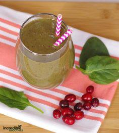 Cranberry Cherry Immune Boosting Green Smoothie Recipe