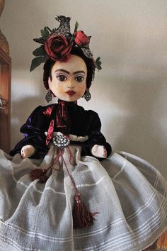 Frida Kahlo Doll.