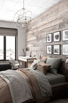 make your bedroom feel like a cabin with a larch lap wall