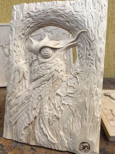 Cnc Wood Carving, Wood Carvings, Plaster, Owls, Concrete, Lion Sculpture, Gardens, Statue, Art