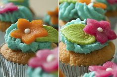 Vrolijke verjaardags cupcakes