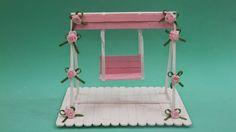 Luiza Alves : Balanço em miniatura feito com palitos