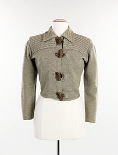 Sweater, Elsa Schiaparelli (1935). Wool, leather.