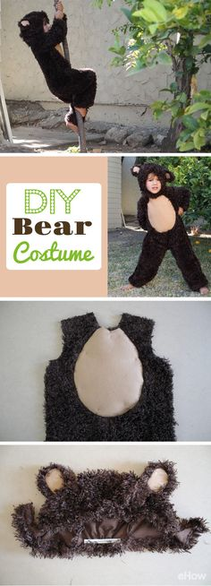Bear hugs have never been so sweet! Make your own bear costume for a child of any size using the printable pattern provided! You just need some basic sewing skills and furry fabric. This is also October-chill, Halloween ready! http://www.ehow.com/how_5402023_make-bear-costume.html?utm_source=pinterest.com&utm_medium=referral&utm_content=freestyle&utm_campaign=fanpage
