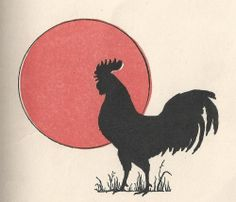 roosters and chickens painting books | Leaping Frog Designs: Vintage Clip Art Rooster Hen And Chicks From ...