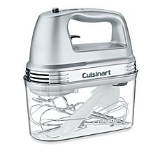 image of Cuisinart® 7-Speed Electric Hand Mixer in Brushed Chrome with Storage Case