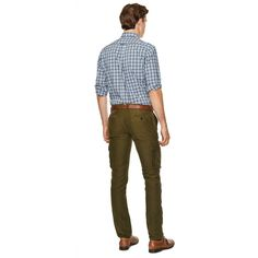 GANT Cargo Chino ($285) ❤ liked on Polyvore featuring men's fashion, men's clothing, dark army green and gant mens clothing
