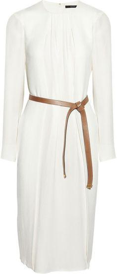 GUCCI Pleated Silkcrepe Dress