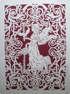 Картина панно рисунок Вырезание Ангел_Liza Pahmat Бумага фото 1