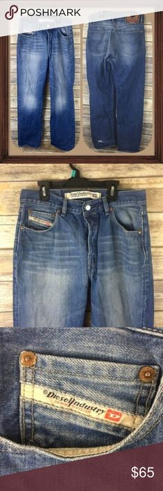 Diesel Men's Mod Kratt Jeans 32 Waist Length 34 Men's mod Kratt Jeans. Size 32 waist 34 length. 4 button closure. In good used condition only flaw is a rip seen in the photo at bottom of pant leg ( reflected in price). Discontinued Style diesel jeans Diesel Jeans Straight