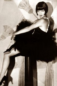 Louise Brooks.....Beautiful.  At VargaStore.com we love the Roaring 20s Fashion.  Women's Dresses, tops, bottoms.......we love it all!