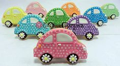 I need this cutter… so cute! Car Cookies, Fancy Cookies, Vintage Cookies, Brownie Cookies, Royal Icing Cookies, Cupcake Cookies, Cupcakes, Super Cookies, Volkswagen