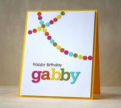 This is such a fun fun card!  This would be a great go-to birthday card! #PTI Papertrey Ink Alpha Block Dies
