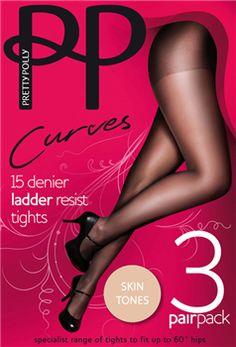339508ed2ab Pretty Polly Curves Tights Black and Sherry Hosiery 15 Denier Ladder Resist
