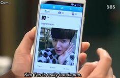 Kim Tan posted a photo on Cha Eun Sang's SNS :P ang kulet! #HEIRS ^___^
