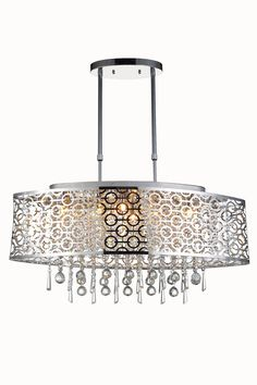 Buy the Elegant Lighting Chrome with Royal Cut Crystals Direct. Shop for the Elegant Lighting Chrome with Royal Cut Crystals Sterling Wide 6 Light Linear Style Chandelier with Crystal Accents and save. Indoor Lighting, Elegant, Elegant Lighting, Chandeliers And Pendants, Lighting Showroom, Light, Pendant Lighting, Chandelier, Chrome