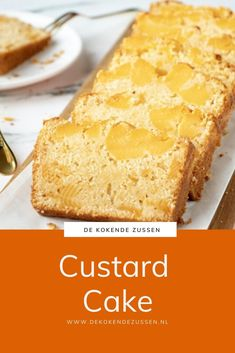 Custardcake recept - de Kokende Zussen Custard Pudding, Custard Cake, Cake & Co, Happy Foods, Food Cakes, Cupcake Cookies, High Tea, Cake Recipes, Bakery